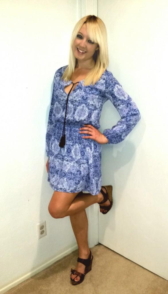 Blue tassel dress 3