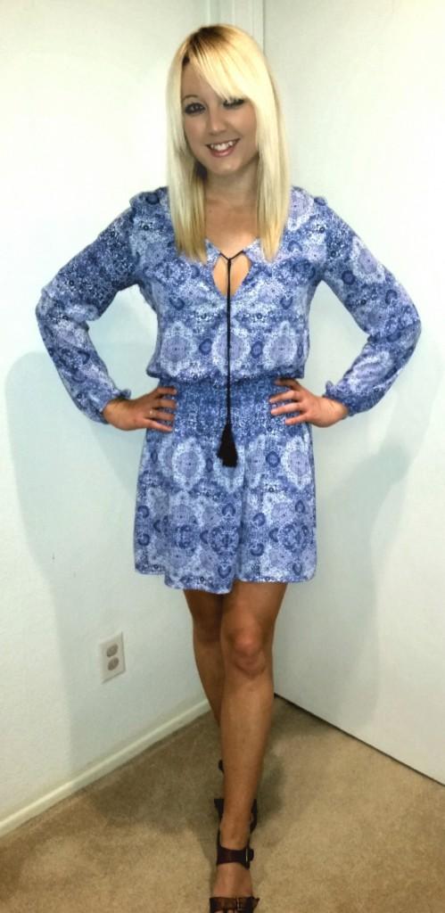 Blue tassel dress 4
