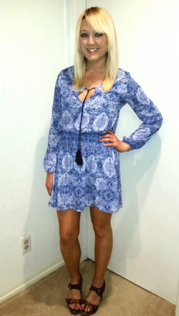 Blue tassel dress 5