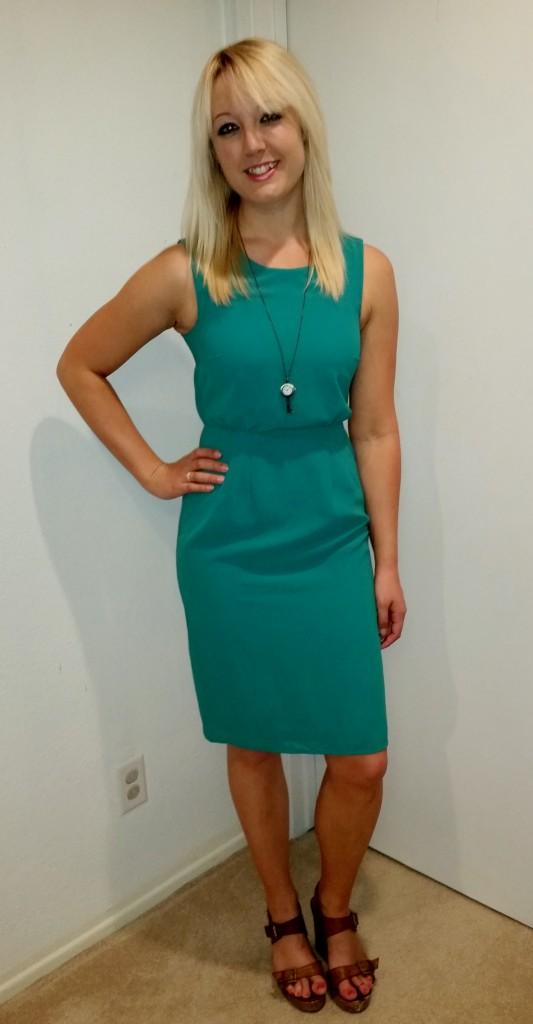 Green shift dress 4