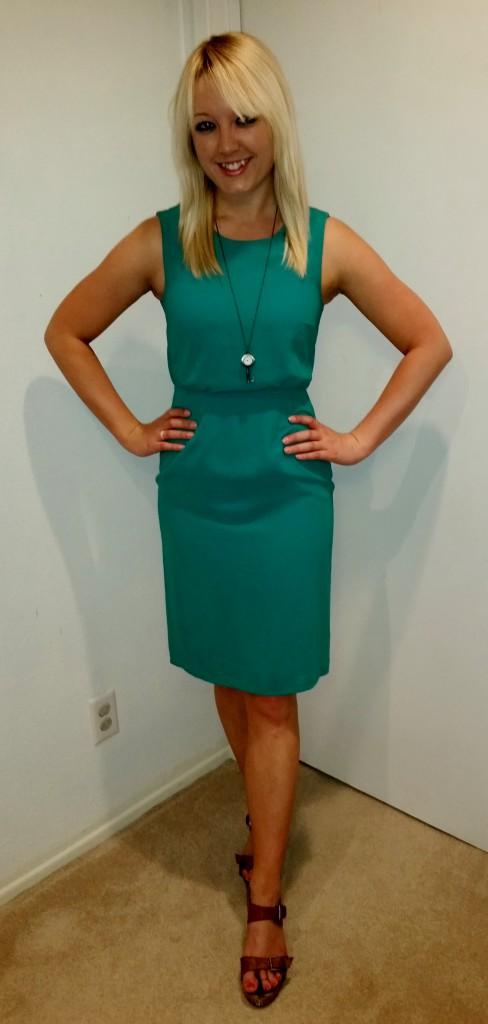 Green shift dress 5