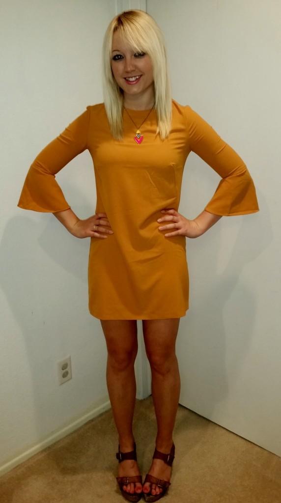 Mustard 70s dress 3