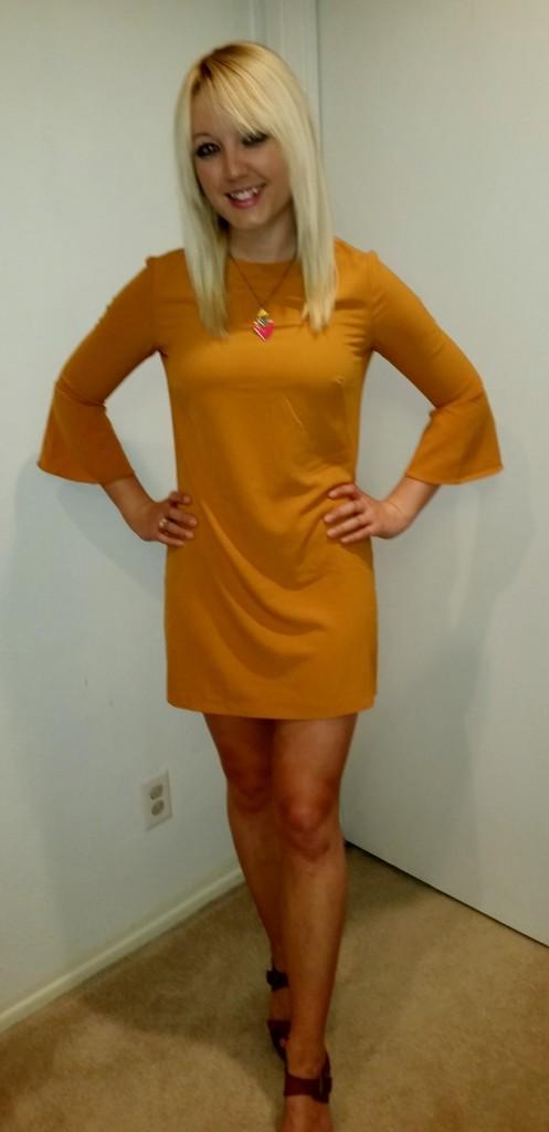 Mustard 70s dress 4