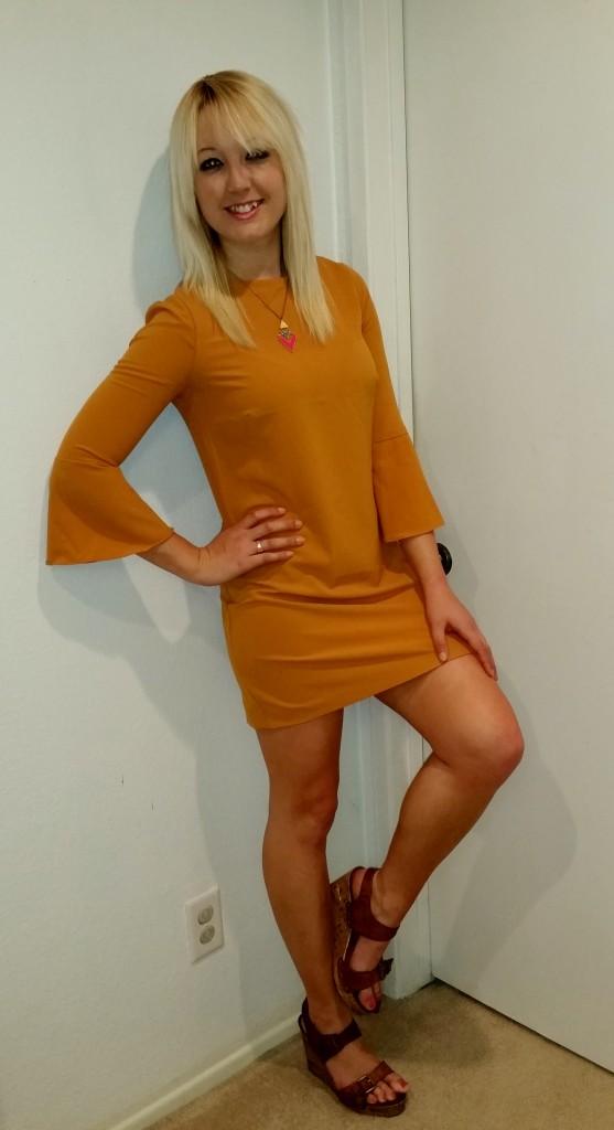 Mustard 70s dress 5