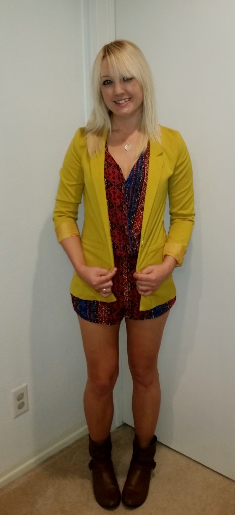 Tribal romper and blazer 1