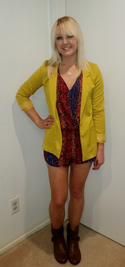 Tribal romper and blazer 2