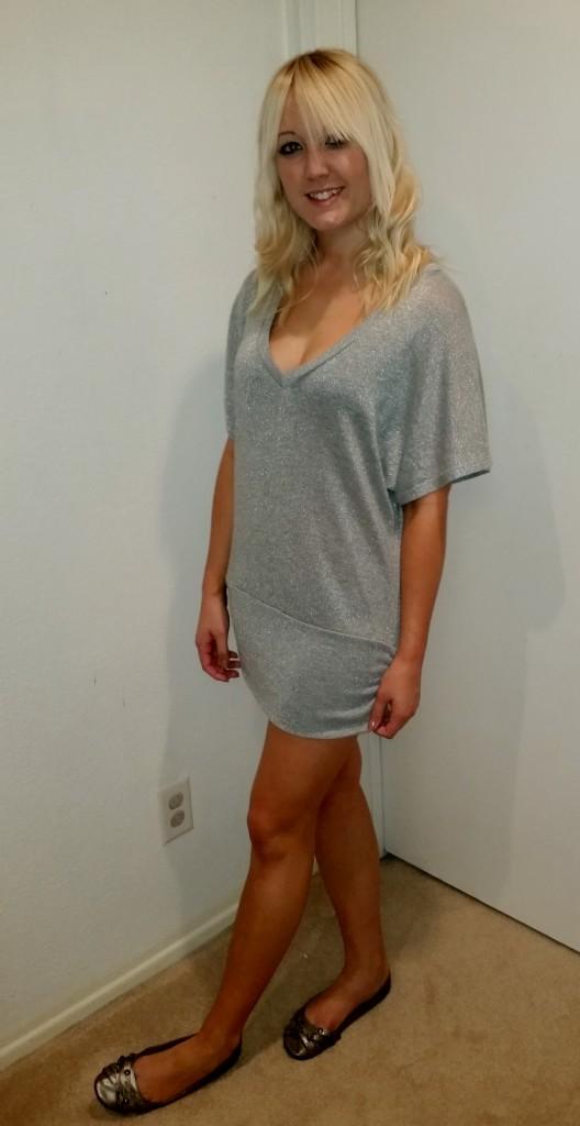 Silver glitter dress 3