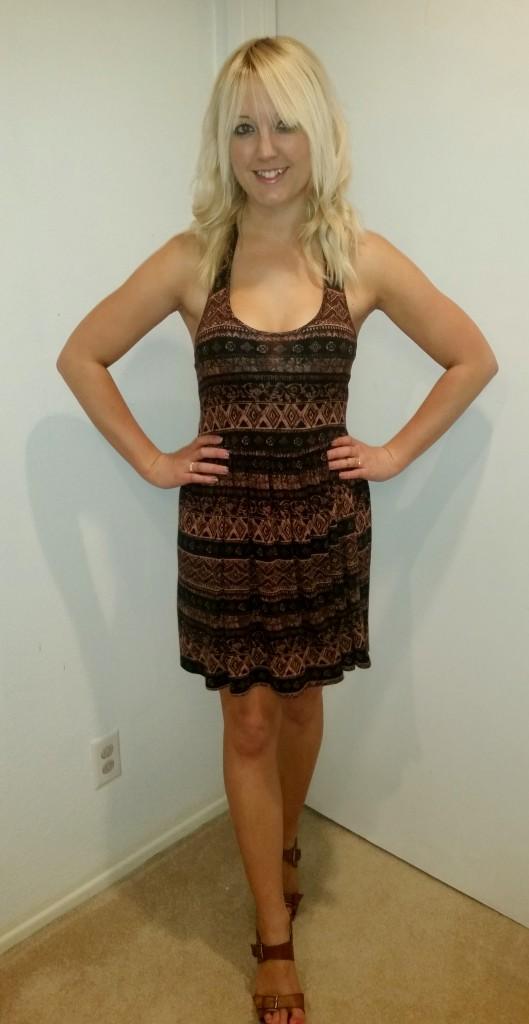 Tribal halter dress 2